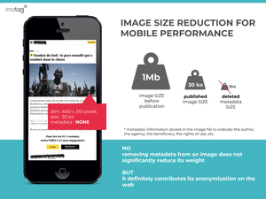 Resizing images to optimize a site download time is also a reason metadata is voluntary deleted